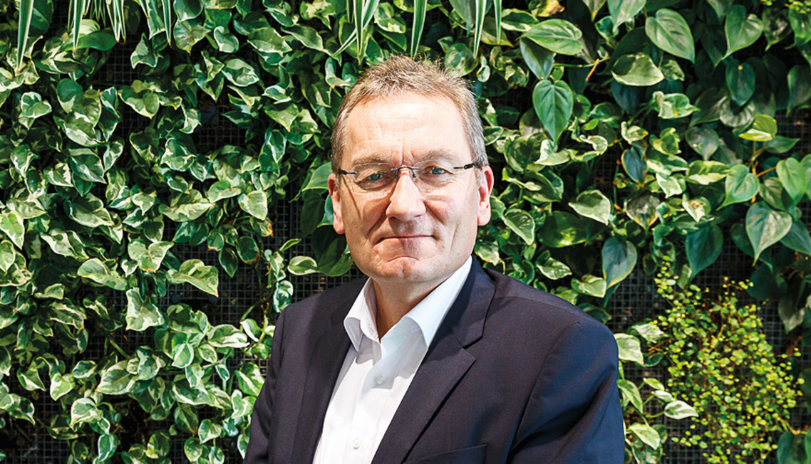Bild von Uwe Harzmann, Vorstand Optigrün international AG