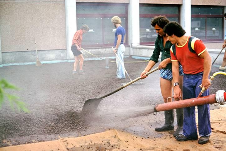 Aufblasen von Substrat, 1980