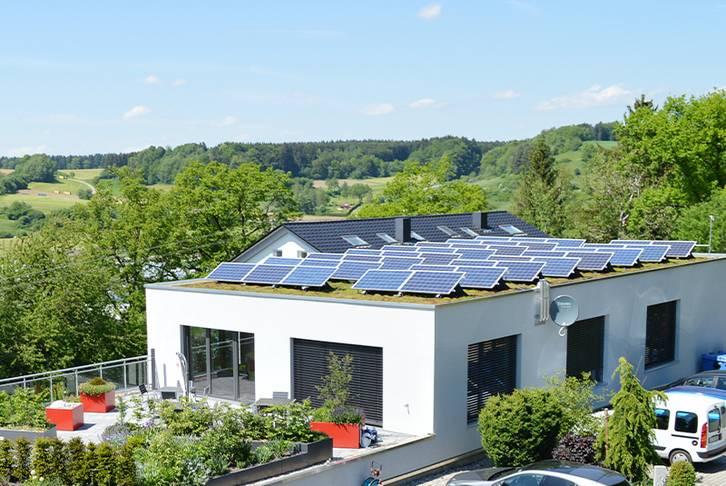 Solargründach OPTIGRÜN-Zentrale Göggingen